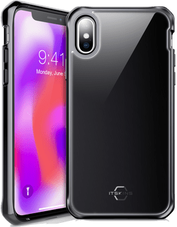 Itskins iPhone X/Xs Hybrid Glass Backcover black