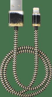 iDeal of Sweden Data Cable Lightning 1m Black/Gold