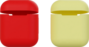 itStyle Airpods Silicon Case Set Red/Yellow