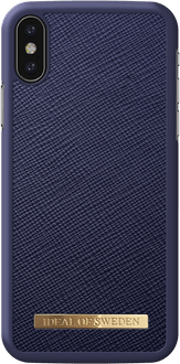 iDeal of Sweden iPhone X/Xs Cover Safiano Blue