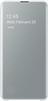 Samsung Galaxy S10 E Clear View Flip Cover white