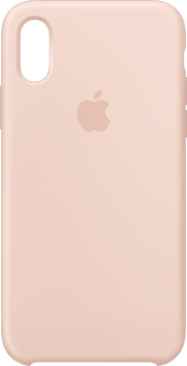 Apple iPhone X/Xs Silicone Backcover pink sand