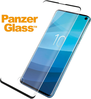 Panzer Glass Galaxy S10 Plus screenprotector fit black