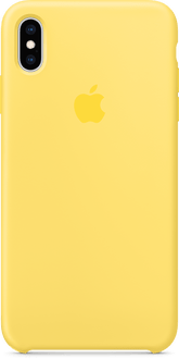 Apple iPhone XS Max Silicon Backcover Yellow