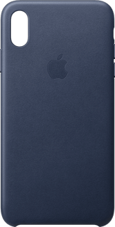 Apple iPhone Xs Max Leather Backcover midnight blu