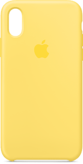 Apple iPhone X/XS Silicon Backcover Yellow