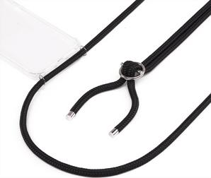 Jalouza Galaxy S10 Necklace Silicon Cover Black
