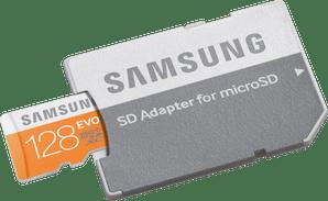 Samsung micro SDXC Evo 128 GB 48MB/s mit Adapter *