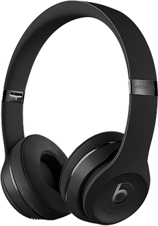 Beats Solo 3 On-Ear Headset Wireless Jet Black