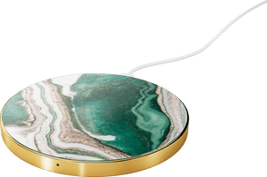 iDeal of Sweden Wireless Charging Plate 10W Marble Green