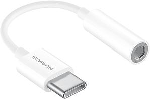 Huawei USB-C + Klinken 3.5mm Adapter white