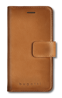 bugatti iPhone X/Xs Book Case Leather cognac