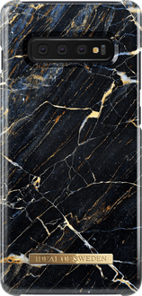 iDeal of Sweden Galaxy S10+ Cover Marble Black