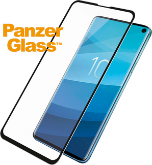 Panzer Glass Galaxy S10 screenprotector fit black