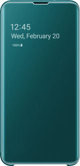 Samsung Galaxy S10 E Clear View Flip Cover green