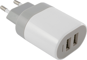 itStyle Charger 220V 2xUSB Universal 2A white without cable