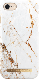 iDeal of Sweden iPhone 7/8 Cover Marble White/Gold
