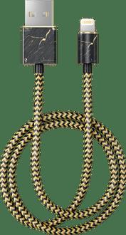 iDeal of Sweden Data Cable Lightning 1m Marble Black