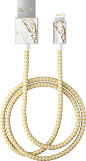iDeal of Sweden Data Cable Lightning 1m Marble White/Gold