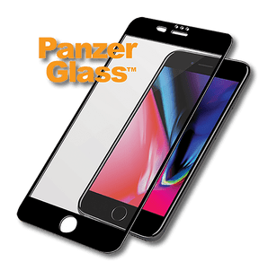 Panzer Glass iPhone 7/8 Plus screenprot full black