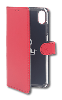 Celly iPhone Xs Max Book Stand Case red