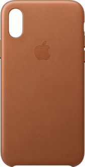 Apple iPhone X/Xs Leather Backcover saddle brown