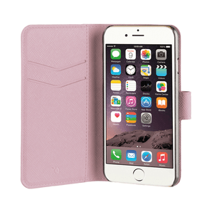 Xqisit iPhone 7/8 Book Stand Case Viskan rosegold