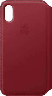 Apple iPhone X/Xs Book Case Leather red