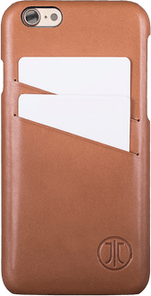 JT Berlin iPhone 7/8 Back Cover Cards Leather cognac