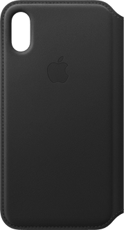 Apple iPhone X/Xs Book Case Leather black