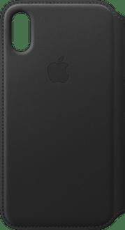 Apple iPhone X/Xs Book Case Leather black