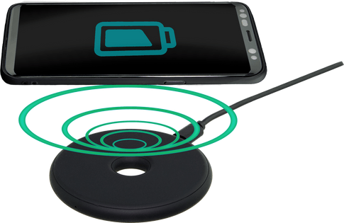 itStyle mini Wireless Charger Rubber black