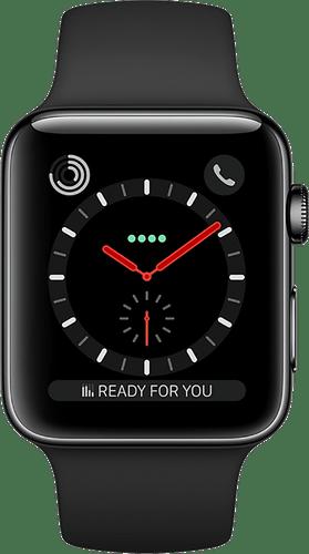 Apple Watch Series 3 GPS+Cellular 42mm Steel Black
