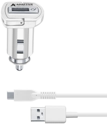 cellularline Charger 12V USB C fast fix cable white