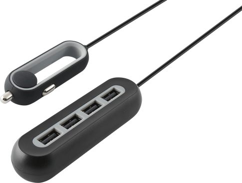 itStyle Charg 12V 4xUSBUniv 9.6A black cable 1.5m