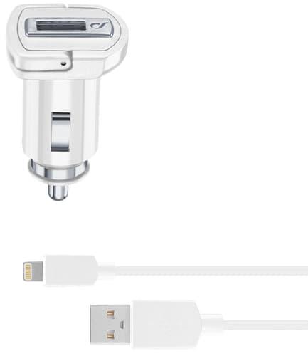 cellularline Charger 12V lightn fast fix cable white