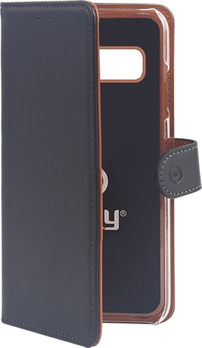 Celly Galaxy S10 Book Stand Case black
