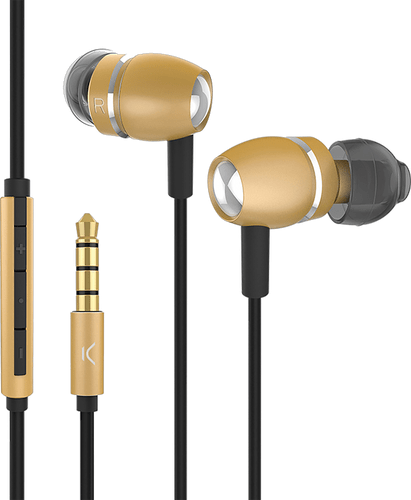 itStyle in ear Stereo Headset aluminium gold