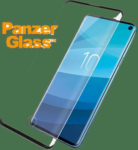 Panzer Glass Galaxy S10 Plus screenprotector fit black