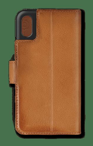 bugatti iPhone X/Xs Book Case Leather cognac
