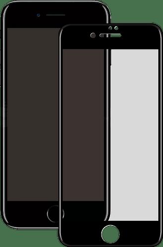 Eiger iPhone 6/7/8 screenprotector 3D Glas black