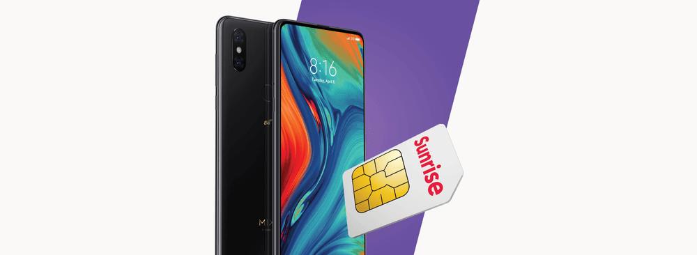70% Rabatt auf das Xiaomi Mi Mix3 5G mit Sunrise Abo